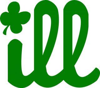 Philadelphia Phillies Ill Decal Sticker Ill Logo Irish