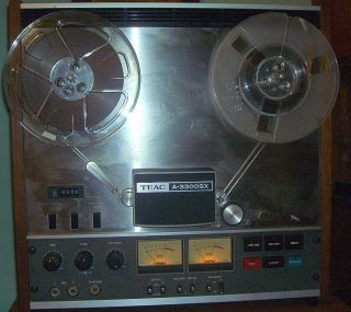 TEAC A 3300SX REEL TO REEL TAPE RECORDER w 10 Reel Adapters and Manual