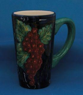 Ganz Bela Casa Valerio Tall Coffee Mug Grapes Grapevine
