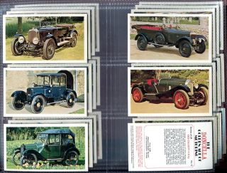 Tobacco Card Set, Doncella, GOLDEN AGE OF MOTORING, Car, Motor