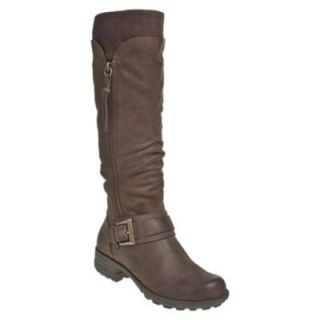 Cobb Hill Womens Bridget Knee High Riding Boots Stone Brown Leather