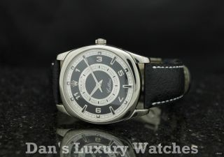 Rolex Geneve Cellini Danaos 18K White Gold Leather Watch B P 4243 D
