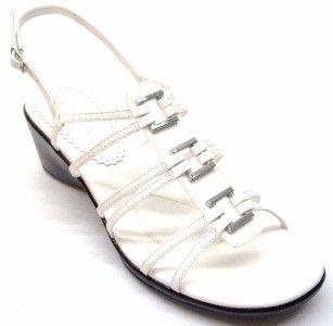 Bella Vita Womens Deidre White Strappy Wedge Sandal Size 11 WW