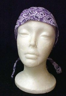 Lilac Paisley Chemo Cancer Head Cover Hat Durag