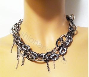 Belle Noel Kim Kardashian Chain Necklace w Eye Shape P