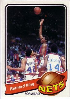 1979 80 Topps New Jersey Nets Team Set 7 Bernard King