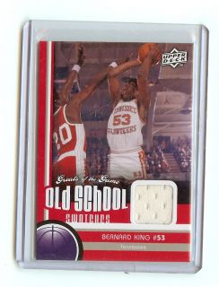 Bernard King 2010 11 Upper Deck Greats of The Game Jersey Card