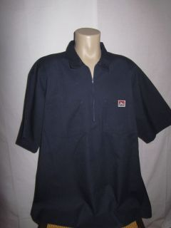 Ben Davis Mens Work Mechanic Garage Shop Shirt s s Navy Blue Size 5XL