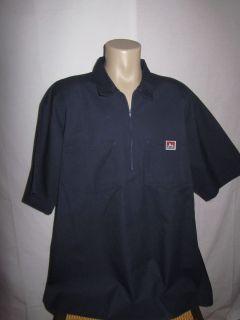 Ben Davis Mens Work Mechanic Garage Shop Shirt s s Navy Blue Size 5XL