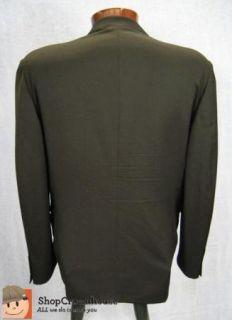 Bernini Beverly Hills Black Italian Wool Suit Jacket Sport Coat Size