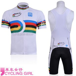 ... 2011 UCI Rainbow Cycling Jersey Bib Shorts Cap Bike Bicycle Clothes ... b2890aa97