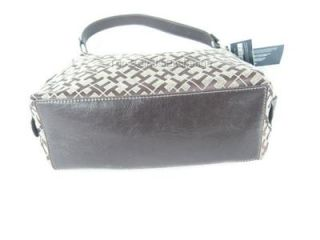 Tommy Hilfiger Iconic Brown Handbag Tote Satchel Hobo