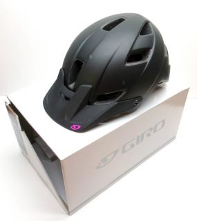 GIRO FEATHER WOMENS MOUNTAIN BIKE HELMET BLACK MAGENTA MEDIUM MD