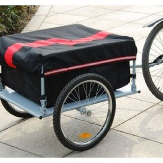 Aosom Large Red Bike Bicycle Trailer Carrier Crate for Cargo 005RL