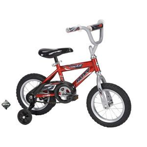 HUFFY 12 BOYS ROCK IT RED BIKE KIDS BICYCLE 52842 WITH TRAINING WHEELS