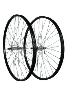 Hybrid Bike Front Rear Bike Bicycle Wheels Shimano Rear Hub Black Rims