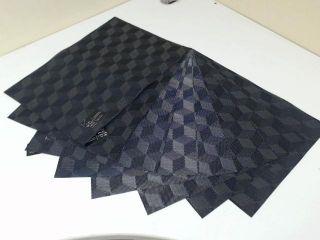 benson mills cubes vinyl placemat black set of 8