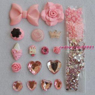 DIY Bling Phone Case Deco Den Kit, Big Bow Cream Pink World DECO DEN