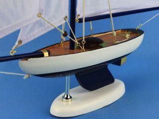 Bermuda Sloop Dark Blue White Sails 17 Sailboat Centerpieces Already