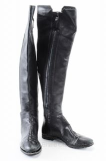 Modern Vintage 37 7 Bernadette Over Knee Boots Black Leather Shoes