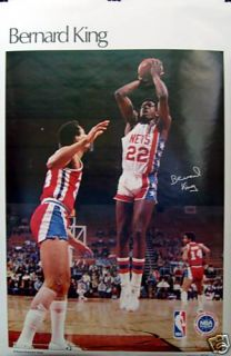 Bernard King New Jersey Nets NBA SI Poster 1979