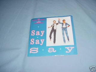 Paul McCartney Michael Jackson Say Say Say 45 1983