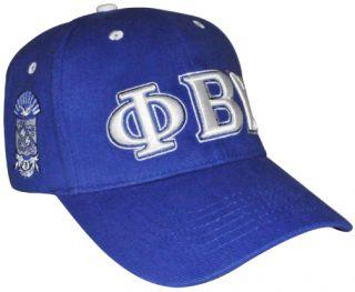 PHI Beta Sigma 3 Letter Low Profile Fraternity Mens Cap