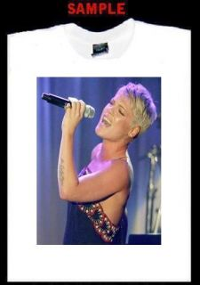 Pink Custom Photo T Shirt Tee Alecia Beth Moore 1459