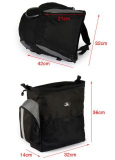 2012 3in1 60L Cycling Bicycle Bag Bike Rear Seat Bag Pannier with Rain