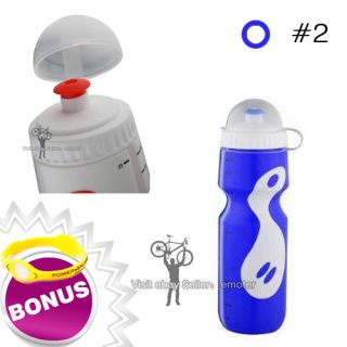 multicolor bicycle cycling bike 750ml sports water bottle with dust
