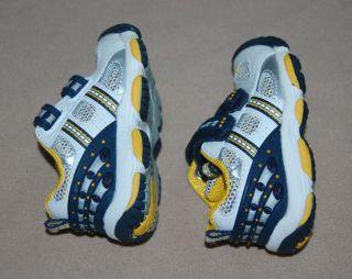 Stride Rite Jetstream Navy Blue Yellow White Velcro Tennis Shoes Boys