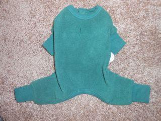 NWT Big Dogs Green Fleece Doggie Pajamas Clothes Size XL