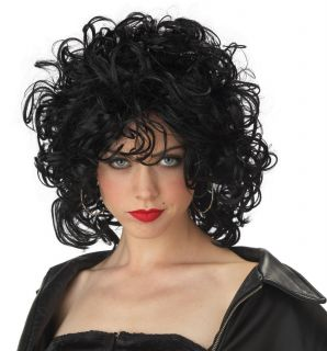 The Bad Girl Jersey Girls Sandy Grease Adult Costume Wig   Black