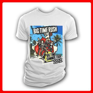 Big Time Rush Summer Tour 2012 Concert BTR White T Shirt Size s M L XL