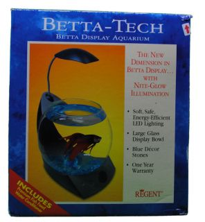 Betta Tech Display Fish Aquarium Nite Light, Fish Bowl, for Live Fish
