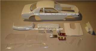 Lot/Body FORD T BIRD PRO STOCK 1/24 Scale GMS CUSTOMS SLOT BODY PARTS
