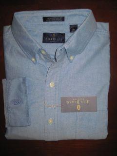 Bill Blass Mens Premium Button Collar Oxford Shirt