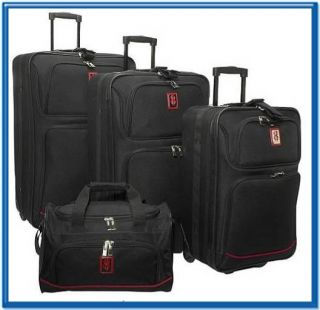 Brand New Bill Blass 4 Pieces Expandable Rolling Luggage Set
