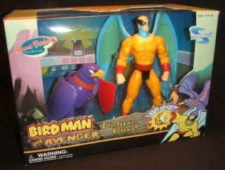 2003 Toynami Birdman & Avenger Deluxe Figure Box Set Hanna Barbera