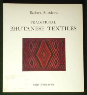 Book Traditional Bhutanese Textiles Ethnic Costume Weaving Kira