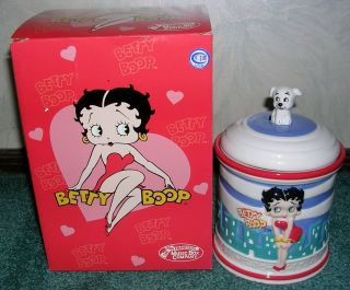 Betty Boop Musical Porcelain Candy Jar San Francisco Music Box Company