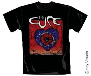 The Cure Wish Heart T Shirt Robert Smith Art T Shirt