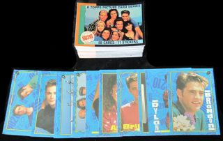 1991 Topps Beverly Hills 90210 Set with Stickers (88 + 11) NM/MT
