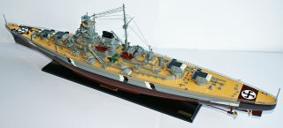 Bismarck 40 German Battleship Wood Model Boat War SHIP