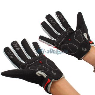 New Bicycle Bike Cycling Long Full Finger Keep Warm Gloves Red