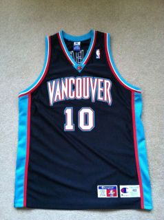 Authentic Vancouver Grizzlies Mike Bibby Champion Jersey Size 48