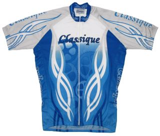 Classique Cycling Short Sleeve Bicycle Jersey Size 2XL Bike Blue