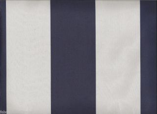 Blue White Striped Curtain Fabric Polyester Curtain