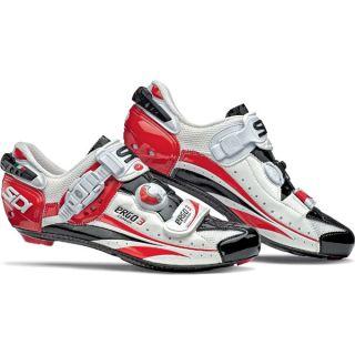 Sidi Ergo 3 Carbon Lite Cycling Shoes Red/White/Black Vernice 9.5/43.5