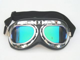 New Motorcycle Bike Scooter Colored Tinted Lens ATV Goggles Eye Wear